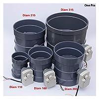 耐久性 PVCエレクトリックエアダクト値220Vのアクチュエータを110から310ミリメートルDIAMエアーダンパーバルブ電動パイプバルブ (Size : Diam 110mm)