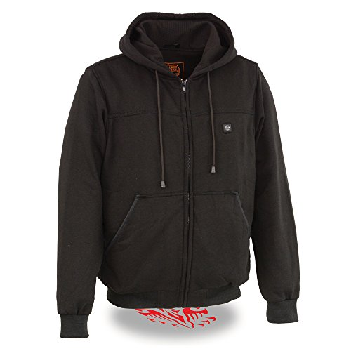 Milwaukee Performance - Men's Zipper Front Black 12V Heated Hoodie W/Front & Back Heating Elements |...
