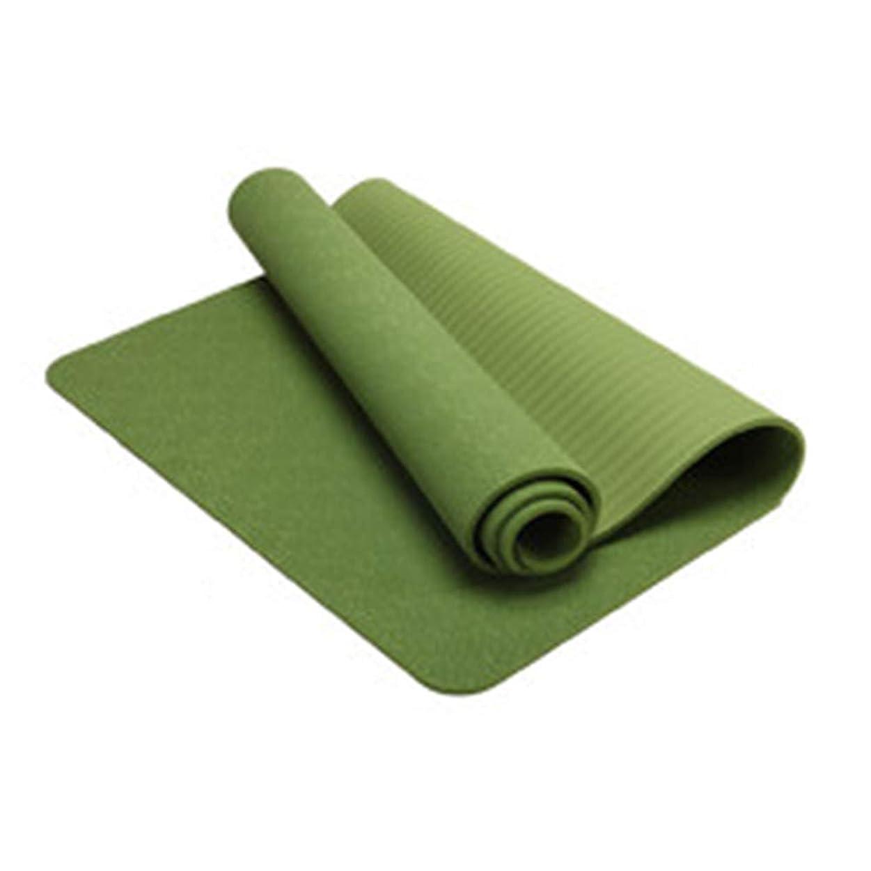笑トレーダー献身ヨガマットフィットネスマットノンスリップマットエクササイズマットダンスマットフロアマット5色/ 183cm * 80cm * 8mm ZHML (Color : Grass green - pure, Size : 183cm*10MM)