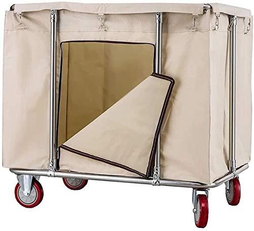 Cesto para la colada Clasificador de lavandería Clasificador de lavandería Cortador de lavandería con ruedas, Cesta de lavandería de servicio de limpieza, Servicio de habitaciones Rolling Trolley con