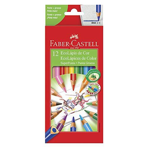 Lápis de Cor EcoLápis Super Ponta 12 Cores, Faber-Castell