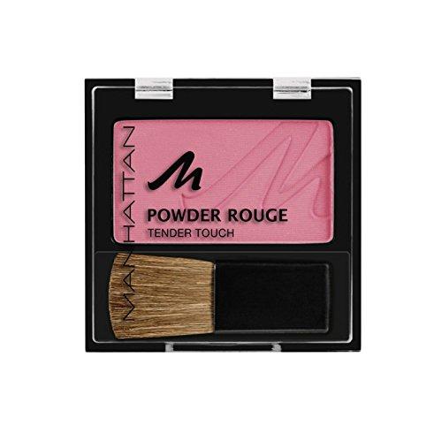 Manhattan Powder Rouge – Pinkes Blush mit Puder Textur und beiliegendem Pinsel – Farbe Cherry...
