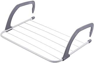 NISHAJ Clothes-Towel Drying Shelf Adjustable Folding Clothes Drying Racks Hanger Shelf Creative Balcony Storage Holder Out...