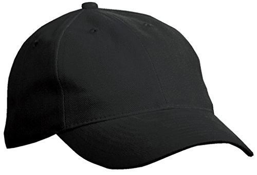 MYRTLE BEACH Casquette 6 Panneaux légerement renforcés (Black)