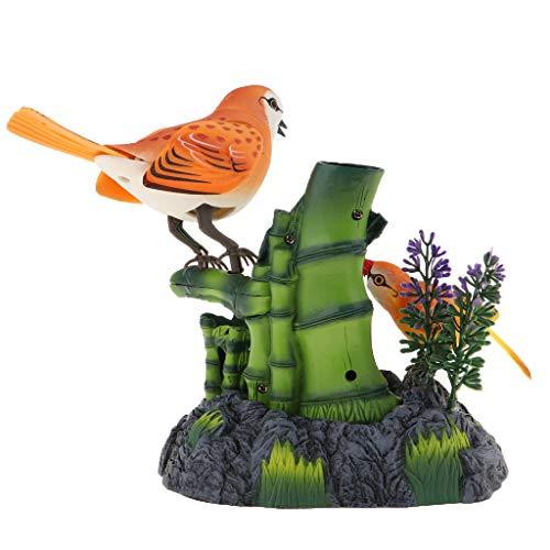 sharprepublic Elektrisches Zwitschern U. Tanzender Vogel Mit Geräusch Sensor, Ton Aktivierter Zwitschernder Vogel Für Kinderspielwaren Mit Stifthalter