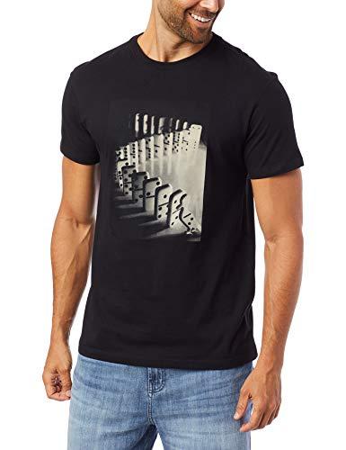 Camiseta Estampada Efeito Domino, Reserva, masculino, Preto, M