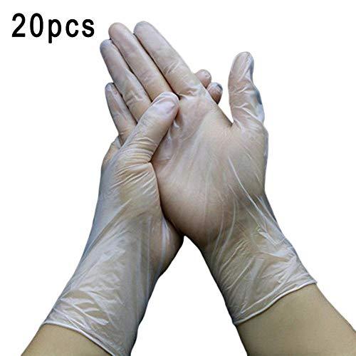 Alarmclocker8B Transparente Einweghandschuhe aus Kunststoff für Lebensmittelzwecke Säurebeständige Handschuhe für die Haushaltsreinigung PVC-Handschuhe 20 Stück-Russian_Federation