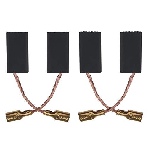 2 pares de 1607014144 1607014145 16070145 - Cepillos de carbono para amoladora angular (15 x 7,7 x 4,6 cm), compatible con Bosch GWS 600 GWS 660 GWS 6-100 GWS 9-125C