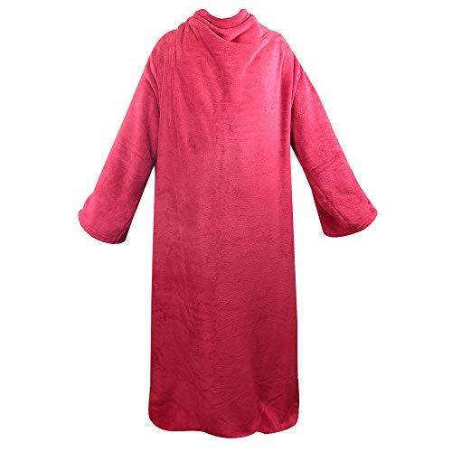 Cobertor Adulto com Manga Master Comfort 01610-ML Master Comfort VERMELHO Tecido