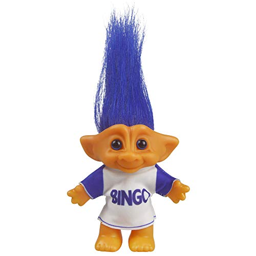 Vintage Troll Dolls, Lucky Doll Chromatic Adorable for Collections, School Project, Arts and Crafts, Party Favors - 7.5' Tall(Include The Length of Hair) (Blue)