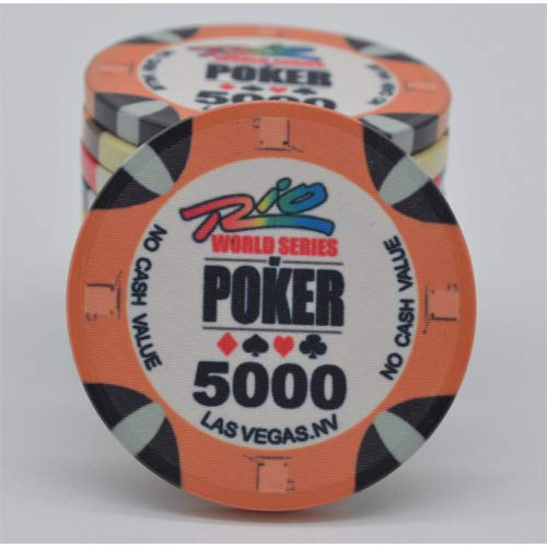 PokerShop Fiches Ceramica WSOP Rio Replica Valore 5000