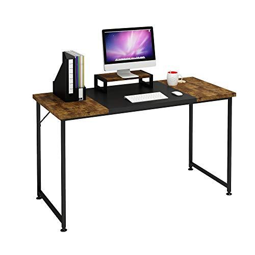 Magic Life Computertisch Studie Schreibtisch 47 Zoll mit Monitoständer, Moderne schlicht Stil PC-Schreibtisch mit Spleißplatte