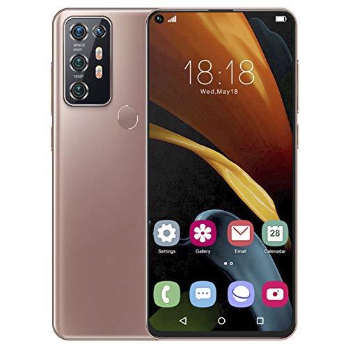 Smartphone desbloqueado,7.2'Waterdrop en pantalla completa con huellas dactilares/Face ID FHD teléfonos celulares desbloqueados, 8 + 128G,doble tarjeta de doble modo de espera,batería de 4500 mAh(yo)