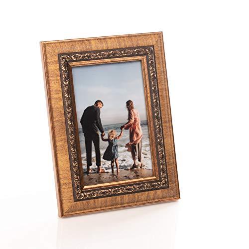 Victoria Collection Marco de Fotos - Marco de Fotos Estilo Barroco Clásico para Fotos Y Documentos - Horizontal, Vertical - para Hogar Y Oficina - Vidrio Real - Gran Regalo para Niños Y Adultos