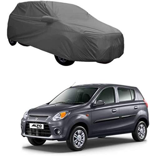 Sv Maruti Suzuki Alto 800 Car Body Cover Water Resistant with Mirror Pocket Grey Color