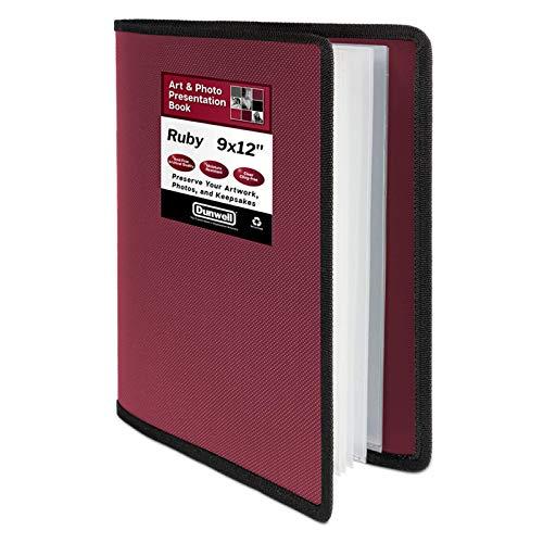 Dunwell Art Portfolio 9x12 Folder - (Ruby, 1 Pack), Portfolio Folder for Artwork, Presentation Book with 9 x 12