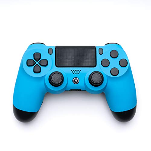 AimControllers Custom Manette PS4 Sony Dualshock 4 a Palette - Manette PS4, PS4 Slim, PS4 Pro - Joystick PS4 Sans fil - Blue