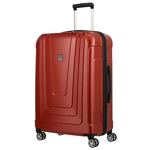 TITAN Koffer 4-Rad mittlere Größe mit TSA Schloss, Made in Germany Gepäck Serie X-RAY: Robuster Hartschalen Trolley aus ultraleichtem Material, 700845-10, 87 Liter, atomic red (rot), Koffer M (72 cm)
