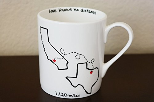 Best Friends State Coffee Mug, Gift for Best Friend, Best Friend Gift, Mothers Day Gift, Long Distance Relationship