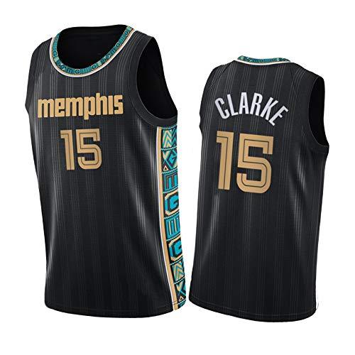 Grizzlies Sudadera de baloncesto Clark 15 # de tela de poliéster, apto para hombres adultos, negro-XXL