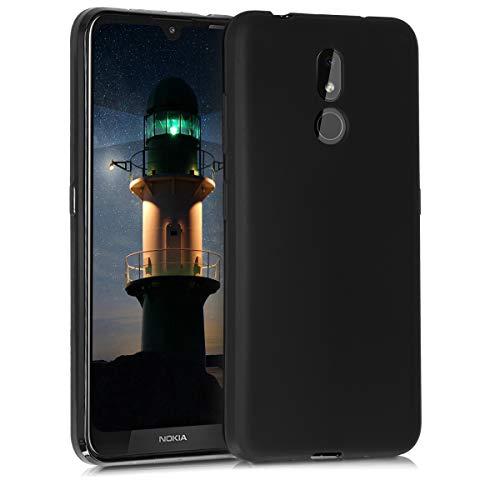 kwmobile Coque pour Nokia 3.2 (2019) - Housse Protectrice pour Téléphone en Silicone Noir Mat