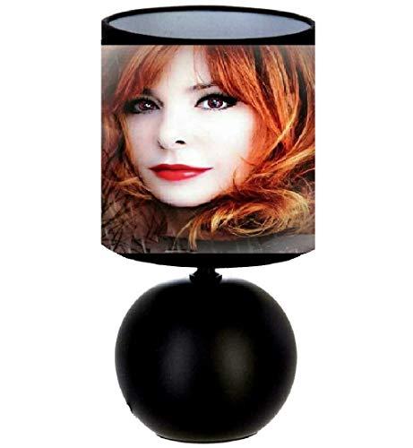 PRESENT Lampe de chevet Mylène Farmer - création artisanale. Cadeaux Anniversaire.