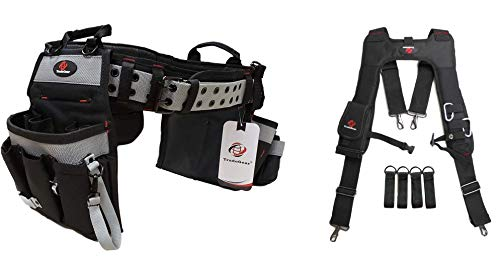 TradeGear Electrician's Belt & Bag Combo - Heavy Duty Electricians Tool Belt Designed for Maximum Comfort & Durability - Ideal for All Electricians Tools (XL-3XL Bundle)