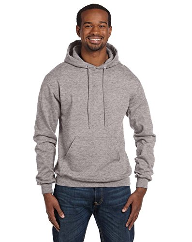 Champion Men's Front Pocket Pullover Hoodie Sweatshirt, Small, Light Steel