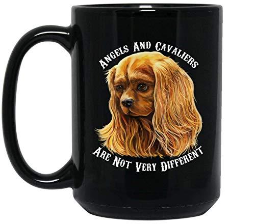 N\A Cavalier King Charles Spaniel Arte, Tazza da caffè Cavalier King Charles Spaniel Rosso Rubino -...