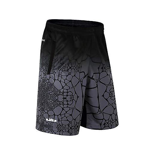 Sodhue Herren Basketball Shorts Leichte und Atmungsaktive Trainingsshorts Lose und Schnell Trocknende Kurze Hose für Fitness Radfahren Laufen