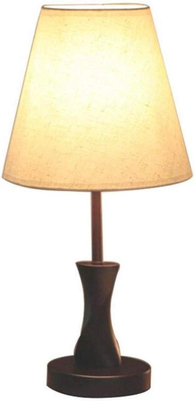 Led Lighttable Lampe Einfache Schlafzimmer Wohnzimmer Dimmbar Holz, Led Warmes Licht, E27 (Wei, Braun) (Farbe  Wei-Dimmer)