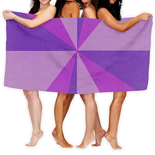 Olie Cam Toallas de baño Serie púrpura Toalla de Ducha de Moda Toalla de Playa con Personalidad Toalla de natación Secado Suave y rápido