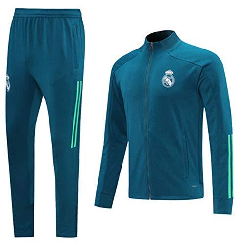 La Camiseta de fútbol Traje Nuevo Entrenamiento de fútbol Reǎl Mǎdrid Hombres Camiseta de Manga Larga de los chándales de la Tapa + Pantalones Rendimiento Juvenil al M