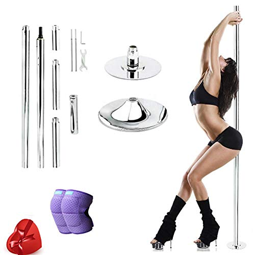 45mm Spinning & Static Stripper Pole, Dancing Pole Kit, höhenverstellbar, abnehmbares Design Übung Fitness Pub Club Party,S