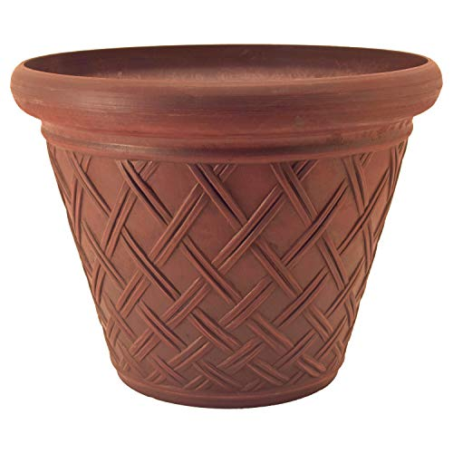 PSW MB46TC Basket Weave Planter, 18 by 14-Inch, Terra Cotta