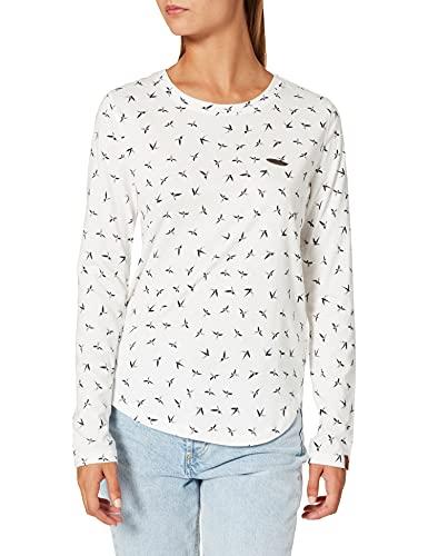 alife & kickin Damen LeaAK B T-Shirt, White, M