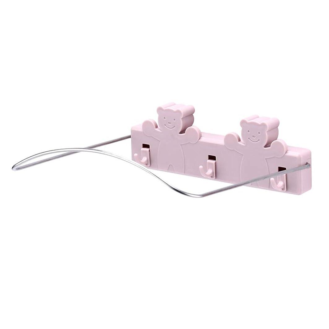 争いグラフィックダーツNAN liang 洗面台スタンド、壁掛けラック、洗面台保管庫、トイレ、パンチフリー洗面台 シェルフ (色 : Pink, サイズ さいず : 22*20*7cm)