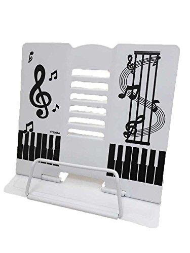 かわいい折りたたみ卓上の譜面台 白  書見台としても (白)