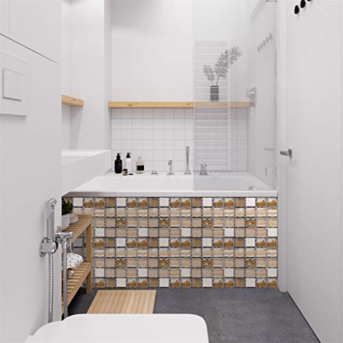 10PCS Self-Adhesive Bathroom Kitchen Decor Home Wall 3D Tile Sticker