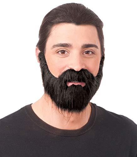 Forum Novelties Full Beard with Mustache, One Size, Pack of 1 (Black)