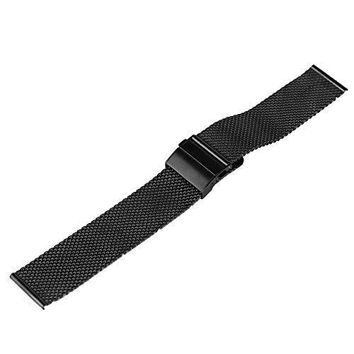 Bandas de Reloj, Correa de Reloj 18 mm / 20 mm / 22 mm Correa de Reloj Malla Correa de Acero Inoxidable Correa de Repuesto para Reloj Plegable ## 11