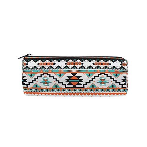 Estuche para lápices Tribal étnico azteca geométrico, estuche para lápices, bolígrafo, bolsa con cremallera, estuche para lápices, estuche para brochas de maquillaje, para oficina, trabajo escolar