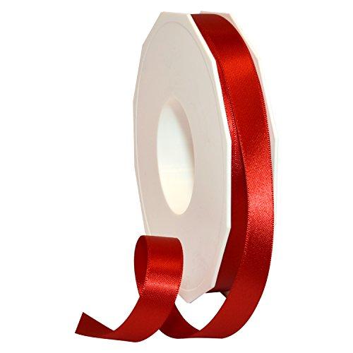 "Morex Ribbon Double Face Satin Ribbon, 5/8"" x 50 Yd, Red"