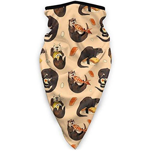 LAKILAN Nutrias Pequeñas Nutria De Sushi Cubierta Facial,Pañuelo Deportivo,Sombreros Sin Costuras,Banda Elástica Ultra Suave,Diademas para Exteriores