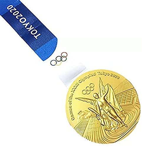 2020年東京オリンピック金/銀/銅メダルセット、1:1亜鉛合金オリンピックメダル、メダルバッジシリーズ