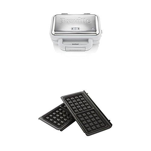 Breville VST070X DuraCeramic-Jumbo-Sandwichtoaster + Breville VST079Waffelplatten