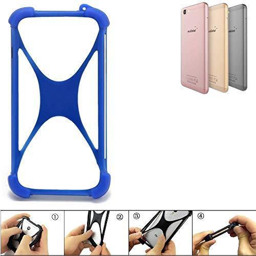 K-S-Trade® Handyhülle Für Mobistel Cynus F10 Silikon Schutz Hülle Cover Case Bumper Silikoncase TPU Softcase Schutzhülle Smartphone Stoßschutz, Blau (1x),