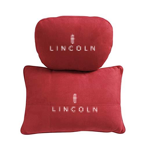 QIEP 2pcs Car Cervical Spine Neck Headrest Pillow Lumbar Cushion Accessories For Lincoln Mkc Mkz Mkt Mkx Continental Navigator