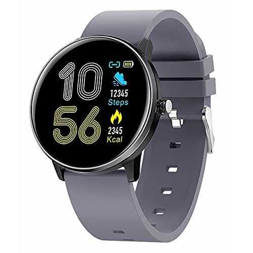 ZGZYL MX6 Men's Smart Watch, Rastreador De Actividades IP68 Reloj Impermeable, Reloj De Fitness para Hombres Y Mujeres con Presión Arterial Y Monitor De Frecuencia Cardíaca,A