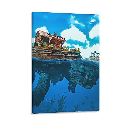 haocaitou ARK Survival Evolved Poster, dekoratives Gemälde, Leinwand, Wandkunst, Wohnzimmer, Poster, Schlafzimmer, Gemälde, 40 x 60 cm